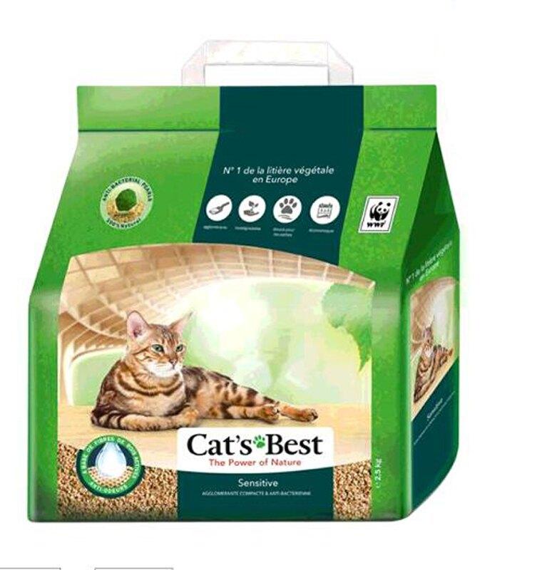 [COSCO代購] W130494 Cat's Best 凱優黑標凝結木屑砂-強效除臭 2.5公斤 X 4入