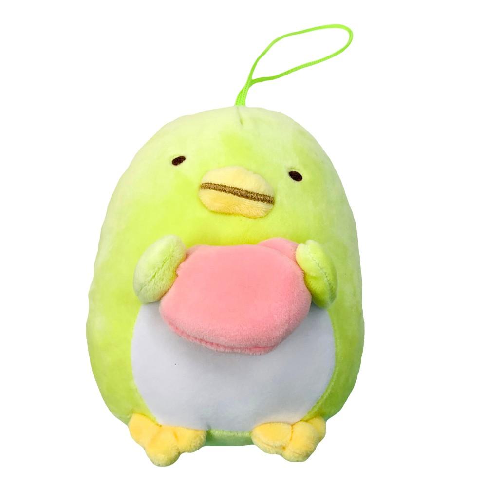 角落生物-小夥伴 坐姿愛心絨毛玩偶(6吋)-企鵝