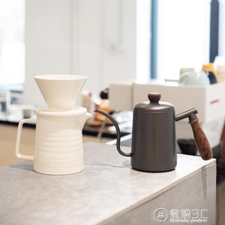 【快速出貨】燁咖啡白晝黑夜 手沖咖啡壺套裝陶瓷過濾杯分享壺 七色堇 新年春節送禮