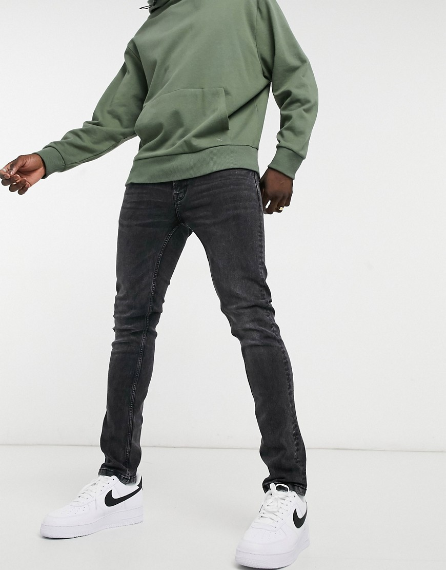 Only & Sons slim jeans in washed black