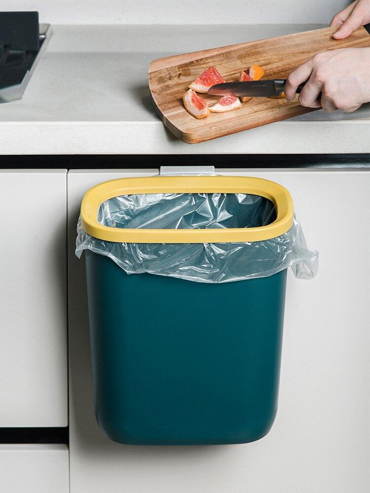 壁挂垃圾桶 廚房免打孔掛式垃圾桶家用簡約辦公室掛壁紙簍浴室廁所垃圾收納桶『CM396220』