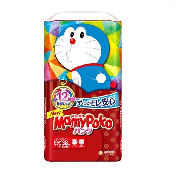 [COSCO代購] W226087 滿意寶寶輕巧褲哆啦A夢版 XL號 114片 - 日本境內版