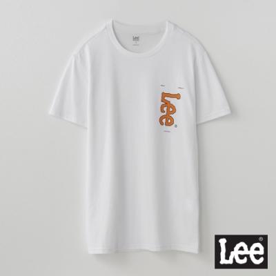 Lee短T 口袋印花短袖圓領TEE RG 男款 白色