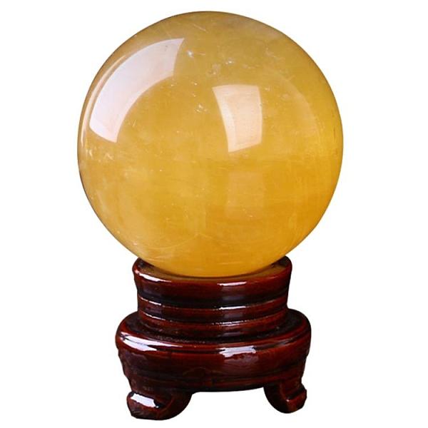 風水球 開光天然黃水晶球風水球轉運球黃色水晶球擺件七星陣招財鎮宅【快速出貨八折搶購】