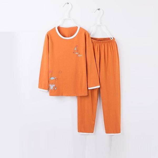 兒童睡衣 兒童睡衣白色夏季寶寶空調服女童睡衣套頭薄款長袖家居服 莎瓦迪卡