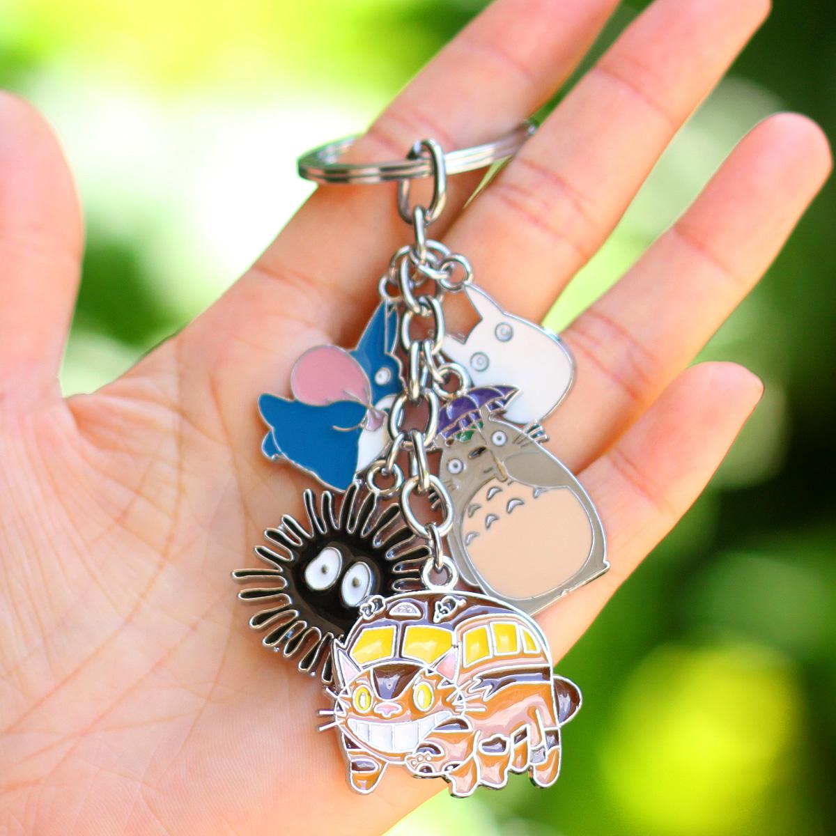 宮崎駿吉卜力龍貓魔女宅急便幽靈公主鑰匙扣鑰匙圈包包挂件飾品