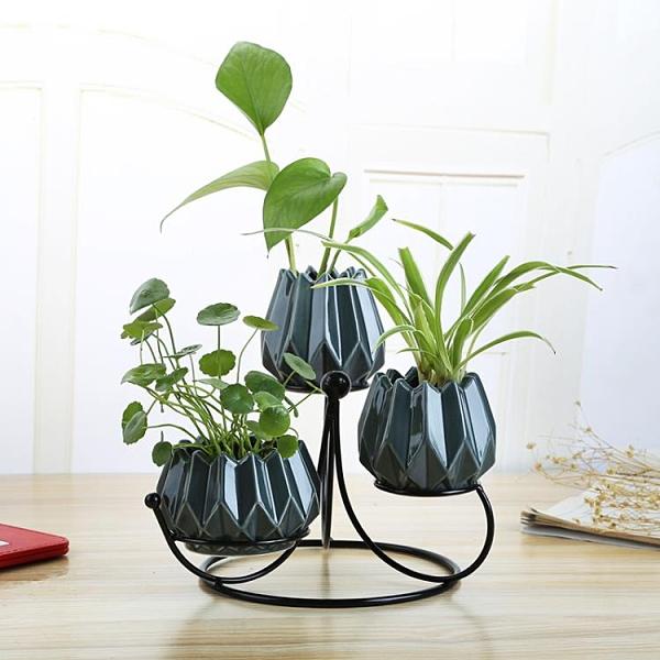 北歐陶瓷花瓶水培花瓶簡約客廳裝飾擺件插花瓶【聚寶屋】