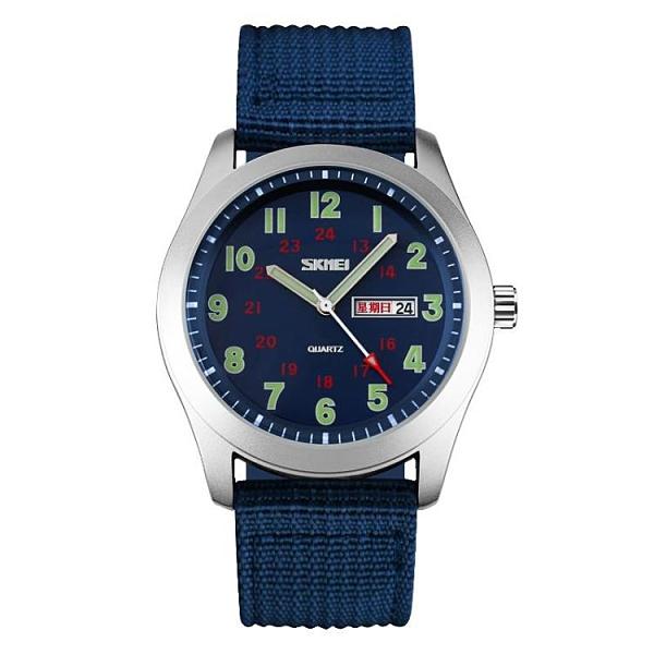 []防水男士石英錶 潮流大錶盤夜光男女中學生運動軍錶男手錶