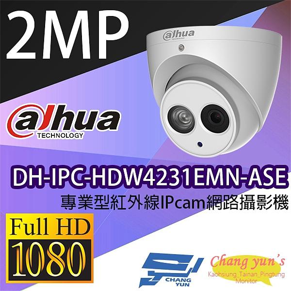 高雄/台南/屏東監視器 大華 DH-IPC-HDW4231EMN-ASE 專業型 1080P半球型紅外線IP網路攝影機