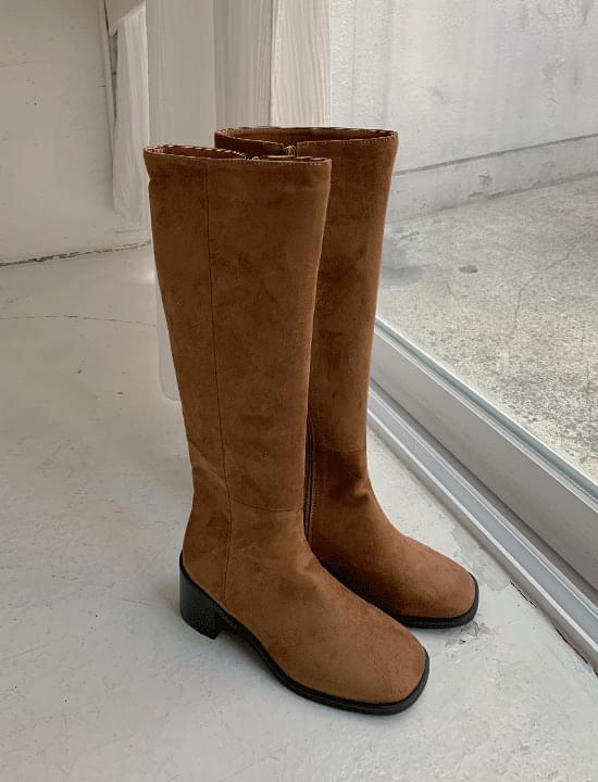 韓國空運 - Nubuck Suede Long Boots 靴子