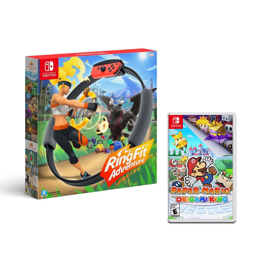 【快速到貨】任天堂 Switch 健身環大冒險+紙片瑪利歐:摺紙國王 同捆組