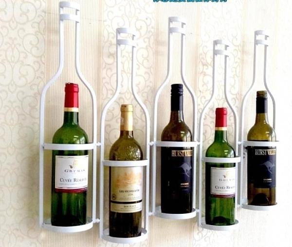 酒架 創意美式鐵藝酒架壁掛牆上牆壁酒櫃酒架吧台壁掛式紅酒架酒杯架 DF 優拓 DF