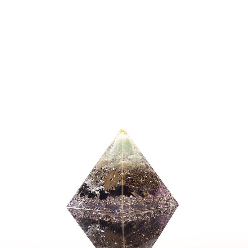 命運之輪 -超大奧剛金字塔Orgonite水晶礦石金屬淨化磁場、遇貴人