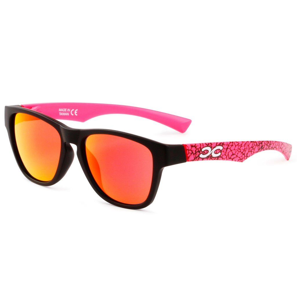 【XFORCE】PURE系列-粉紅爆裂紋 SUP/衝浪/休閒太陽眼鏡 無螺絲鏡框 23公克極致輕量化鏡框