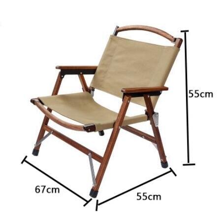 TNR折疊椅復古克米特椅實木戶外日系露營便攜野炊公園扶手休閑椅