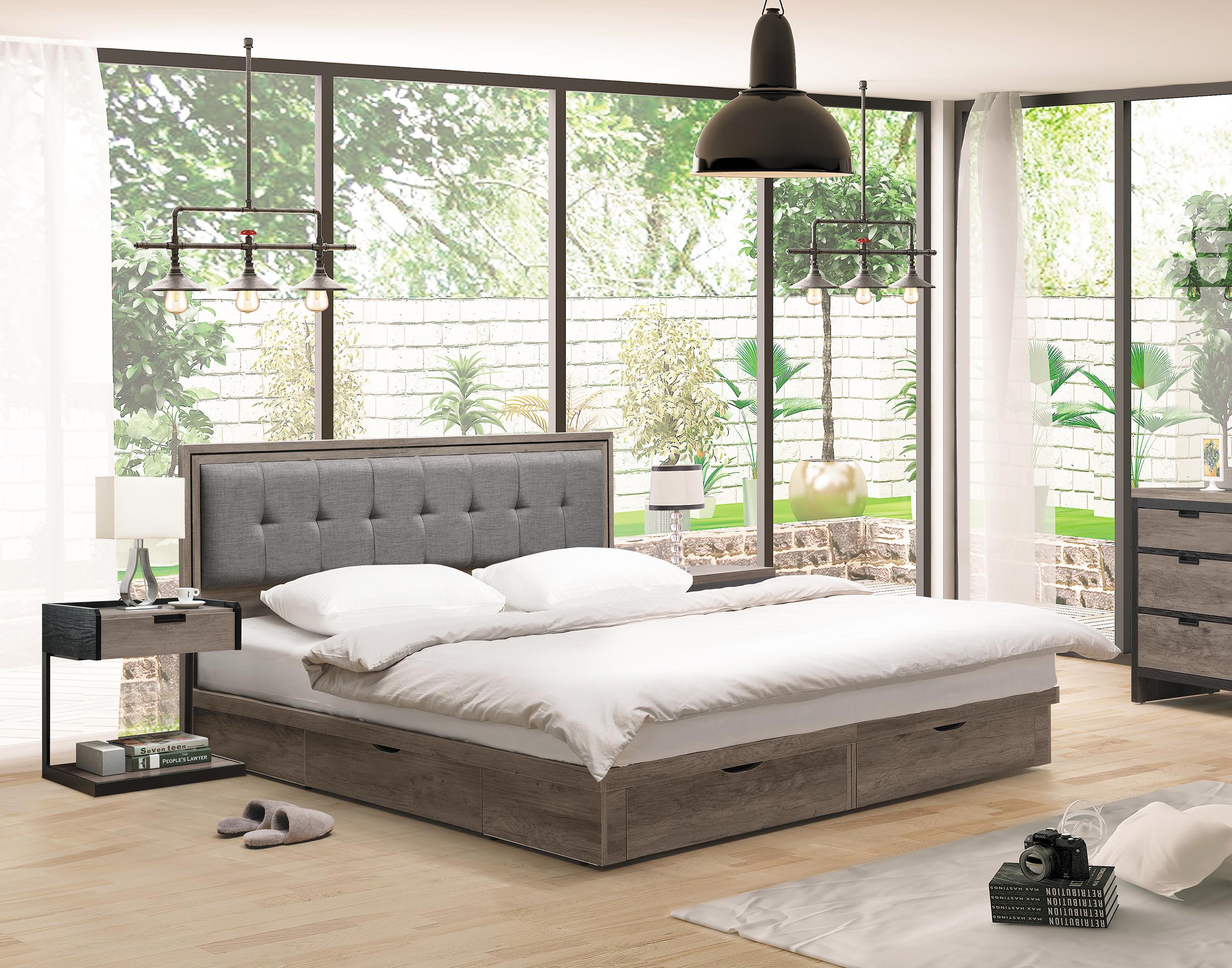【 尚品傢俱】HY-B061-07 艾美古橡色3.5尺床頭片 / 5尺床頭片 / 6尺床頭片