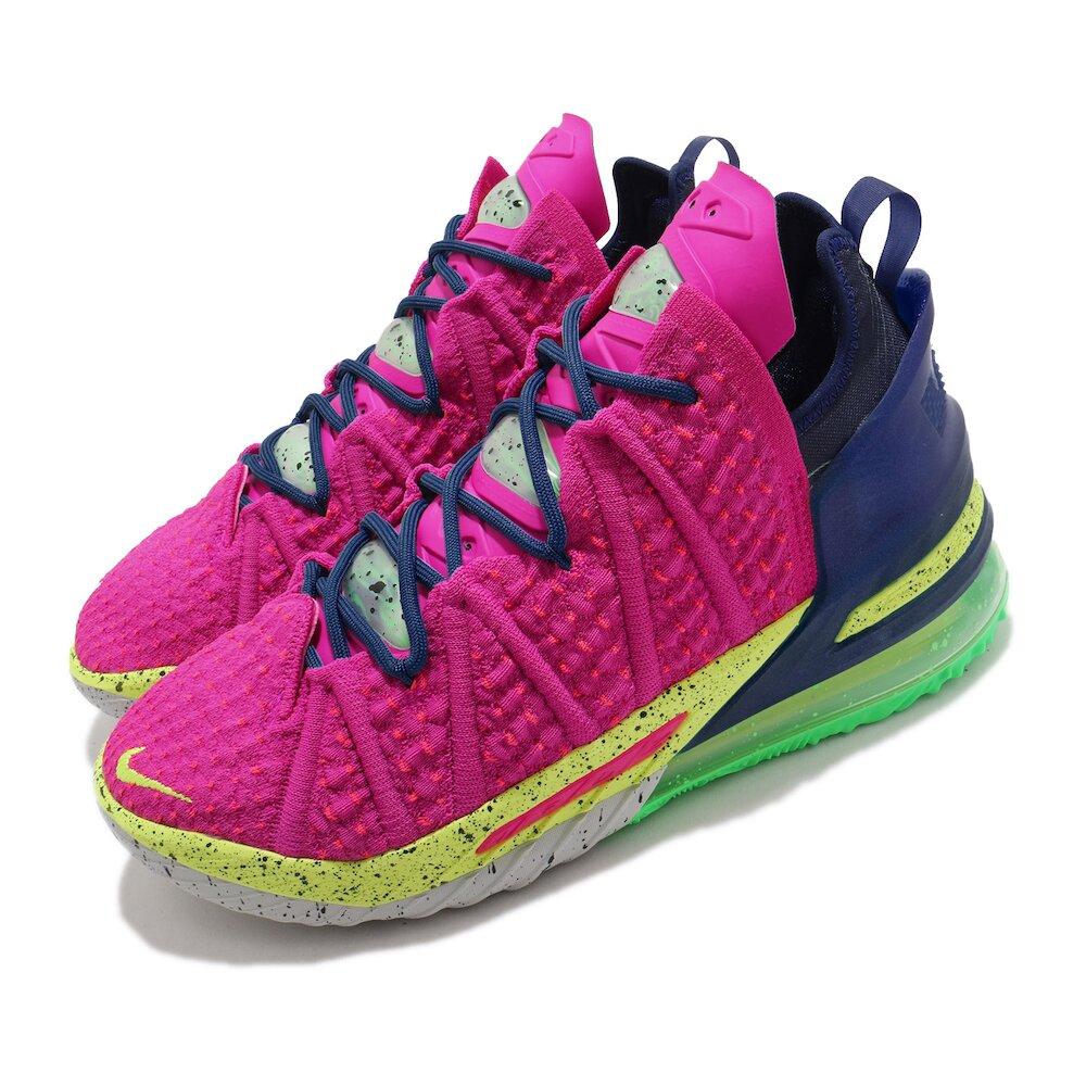 NIKE 籃球鞋 Lebron XVIII EP 運動 男鞋 明星款 避震 包覆 氣墊 舒適 球鞋 粉 彩 [DB7644-600]