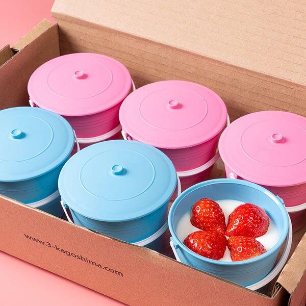 【木匠手作】★草莓布丁(盒/6入裝)★療癒系甜點★水桶造型布丁
