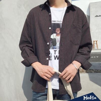 HeHa-格紋長袖襯衫 兩色