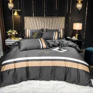 BEDDING-60支100%天絲兩用被床包組-錦繡年華玄灰(加大)