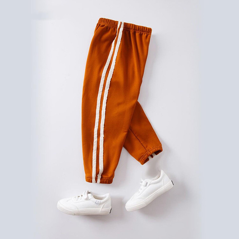 溫暖加絨運動束口褲-焦糖棕