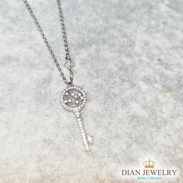 【DIAN 黛恩珠寶】星鑰 CZ鑽純銀項鏈 (WW71483)