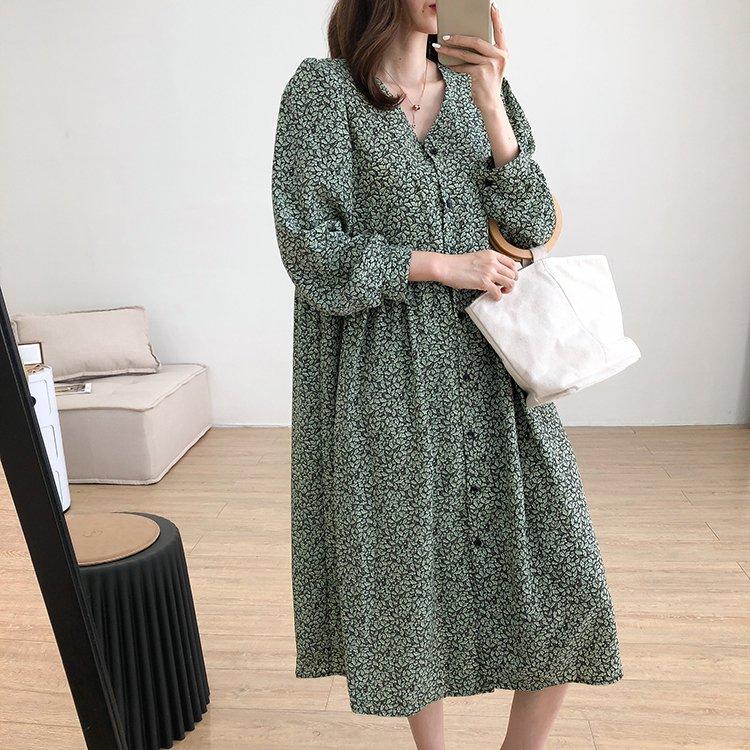 【missy shop】清枝綠葉洋裝1601-6585850