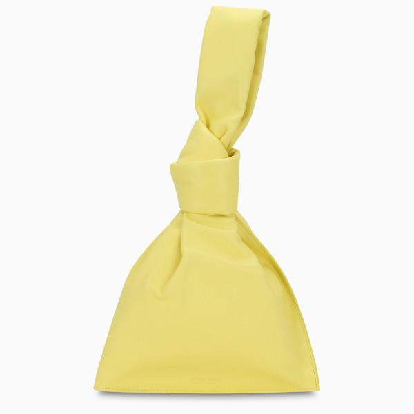 Bottega Veneta The Mini Twist yellow clutch
