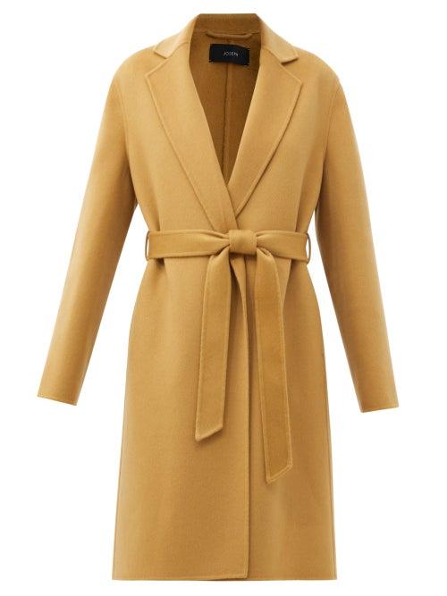 Joseph - Cenda Wool-blend Wrap Coat - Womens - Camel