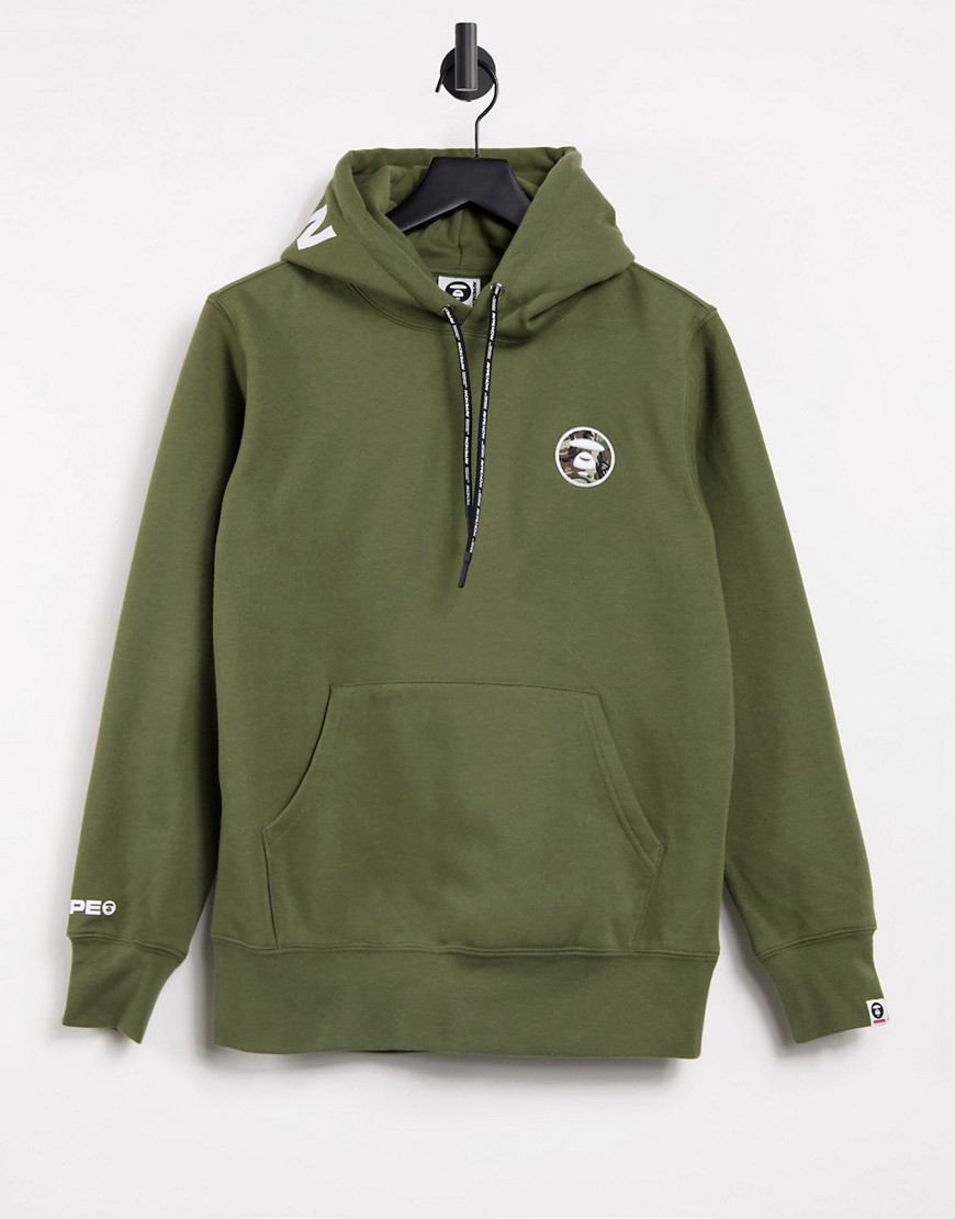 AAPE By A Bathing Ape french fleece hoodie in khaki-Green