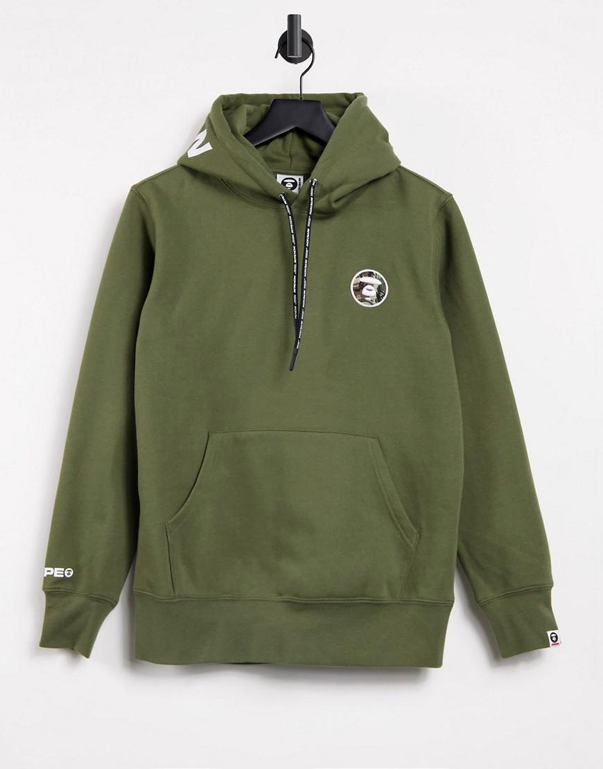 AAPE By A Bathing Ape french fleece hoodie in khaki-Green