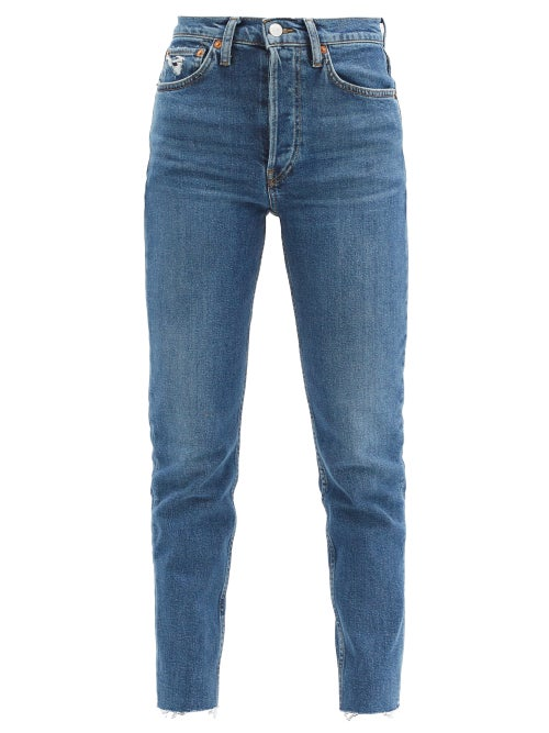 Re/Done - 90s High-rise Slim-leg Cropped Jeans - Womens - Denim