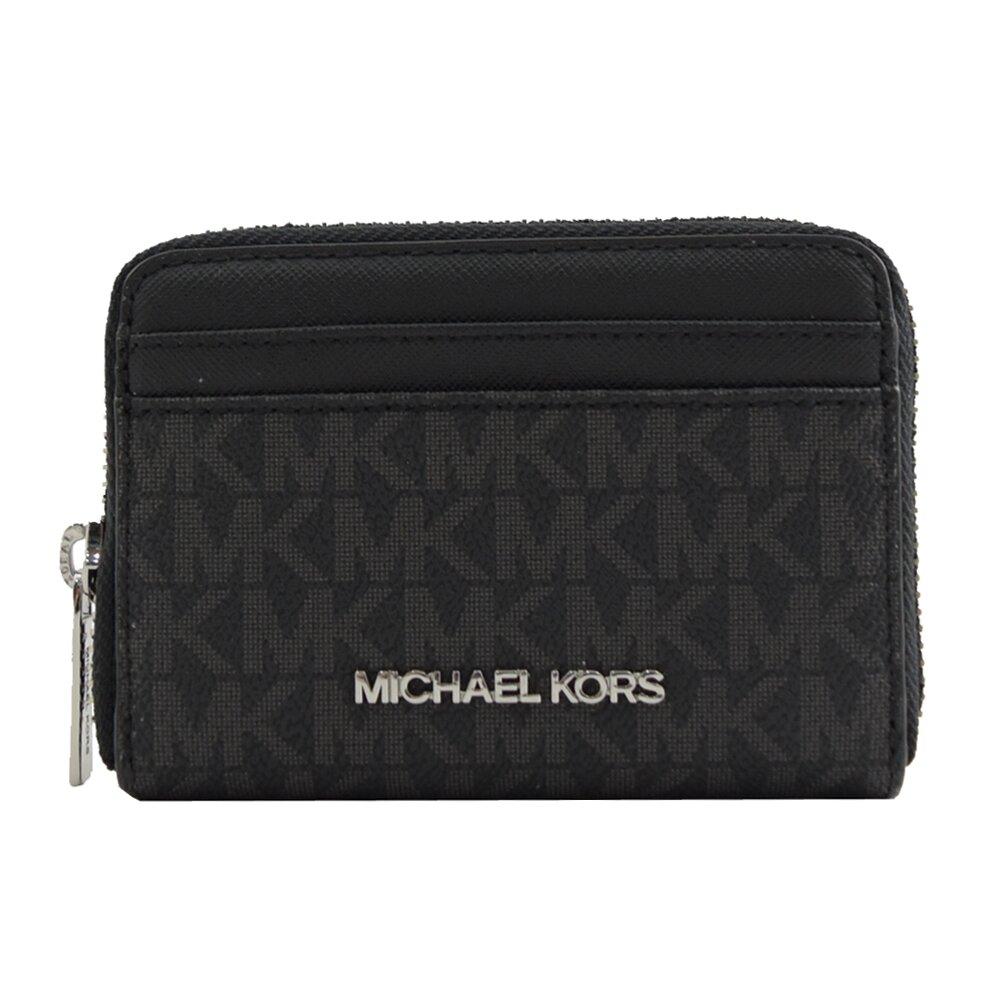 MICHAEL KORS 專櫃商品 JET SET TRAVEL 字母造型多卡零錢包.黑