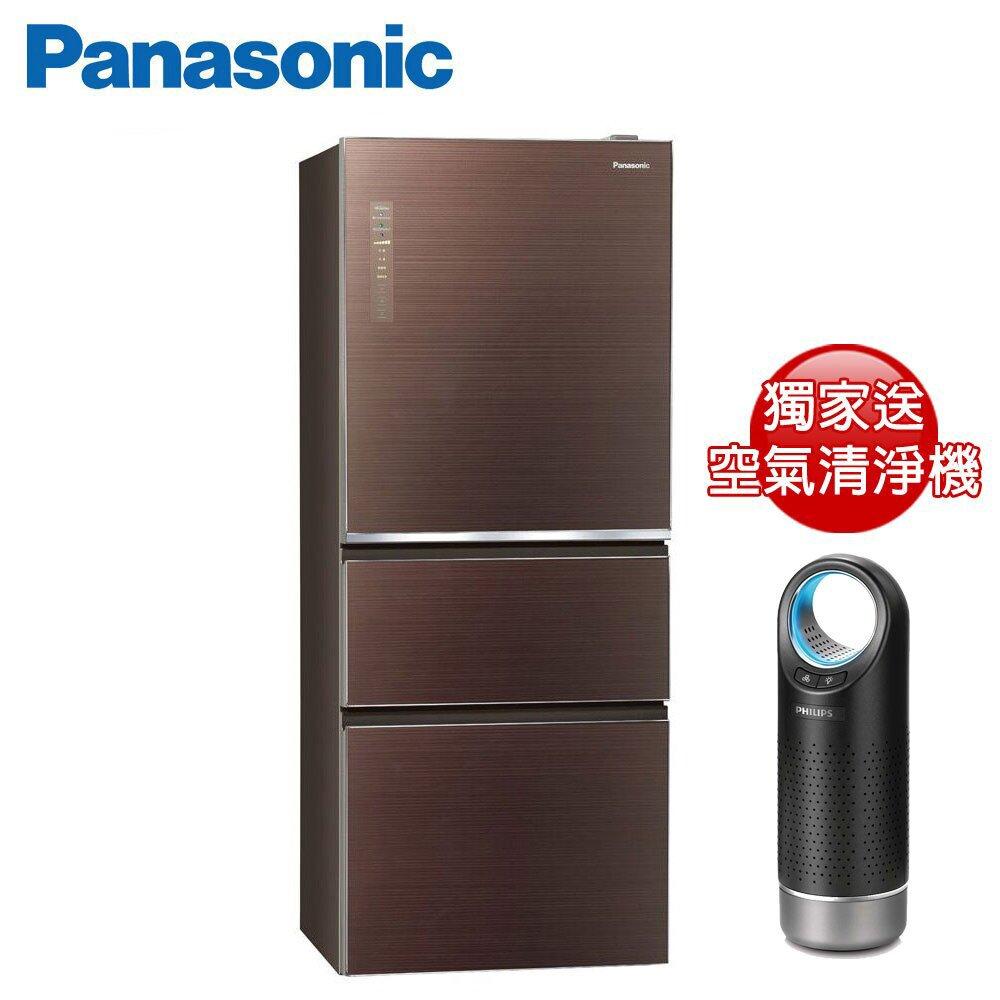 (快倉)Panasonic國際牌500公升三門變頻冰箱(NR-C500NHGS-T)-棕色