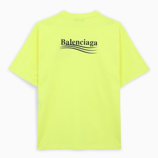 Balenciaga Fluo yellow/black Political Campaign t-shirt