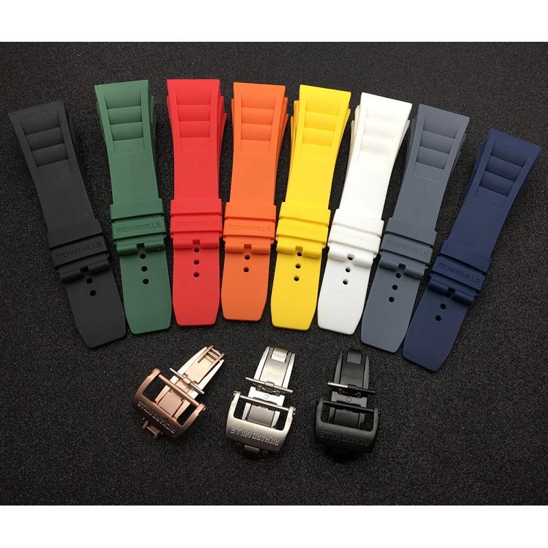 代用理查德米勒RICHARD MILLE 防水進口矽膠手錶帶25mm RM055/011