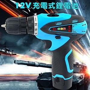 【威力鯨車神】12V雙速充電式鋰電池電鑽組_37件豪華大全配(加贈打蠟