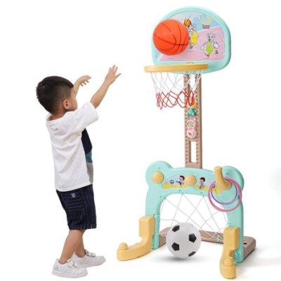 兒童籃球架足球籃框室內可升降投籃兩三周女孩2-3-5-6歲男孩 玩具-全館免運