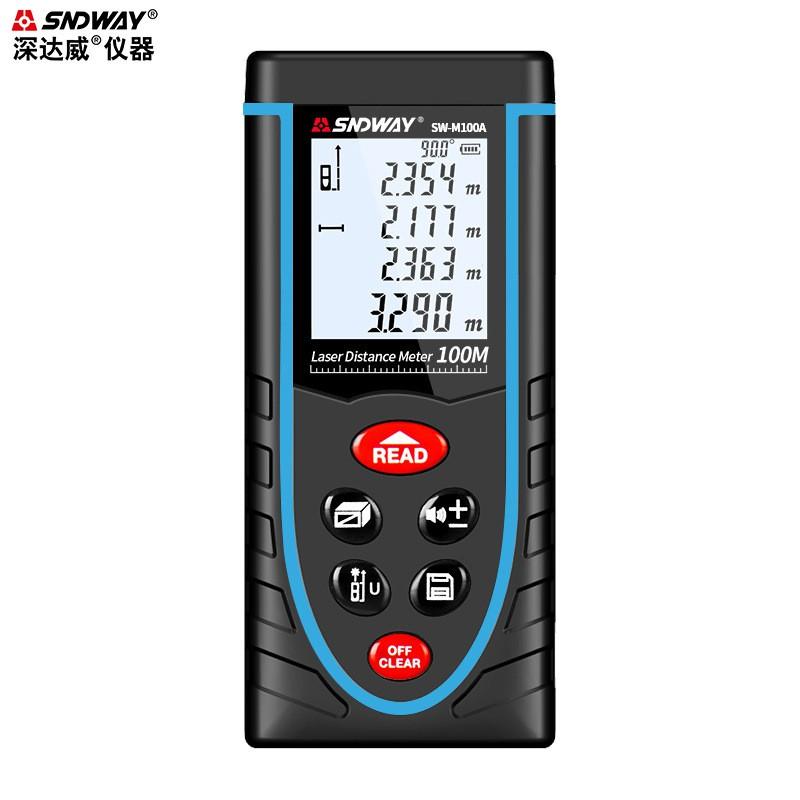 深達威手持式測距儀激光測距儀 鋰電語音紅外線測量儀量房儀電子