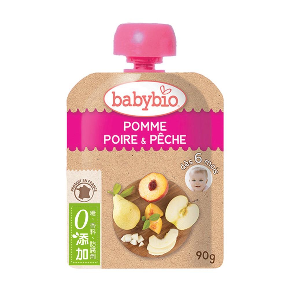 法國Babybio 生機蘋果洋梨纖果泥6m+ 90g Babybio官方直營店