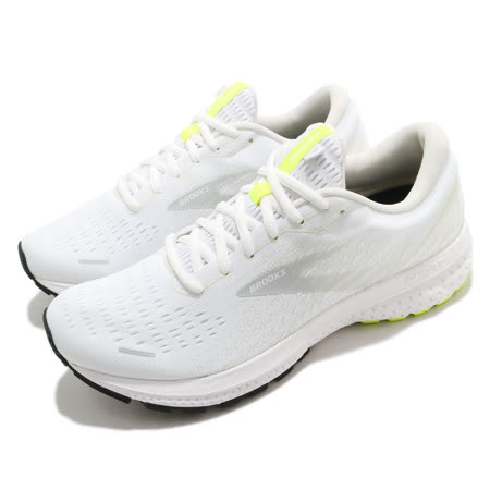 Brooks 慢跑鞋 Ghost 13 運動 男鞋 路跑 緩震 DNA科技 透氣 健身 球鞋 白 灰 1103481D135 1103481D135