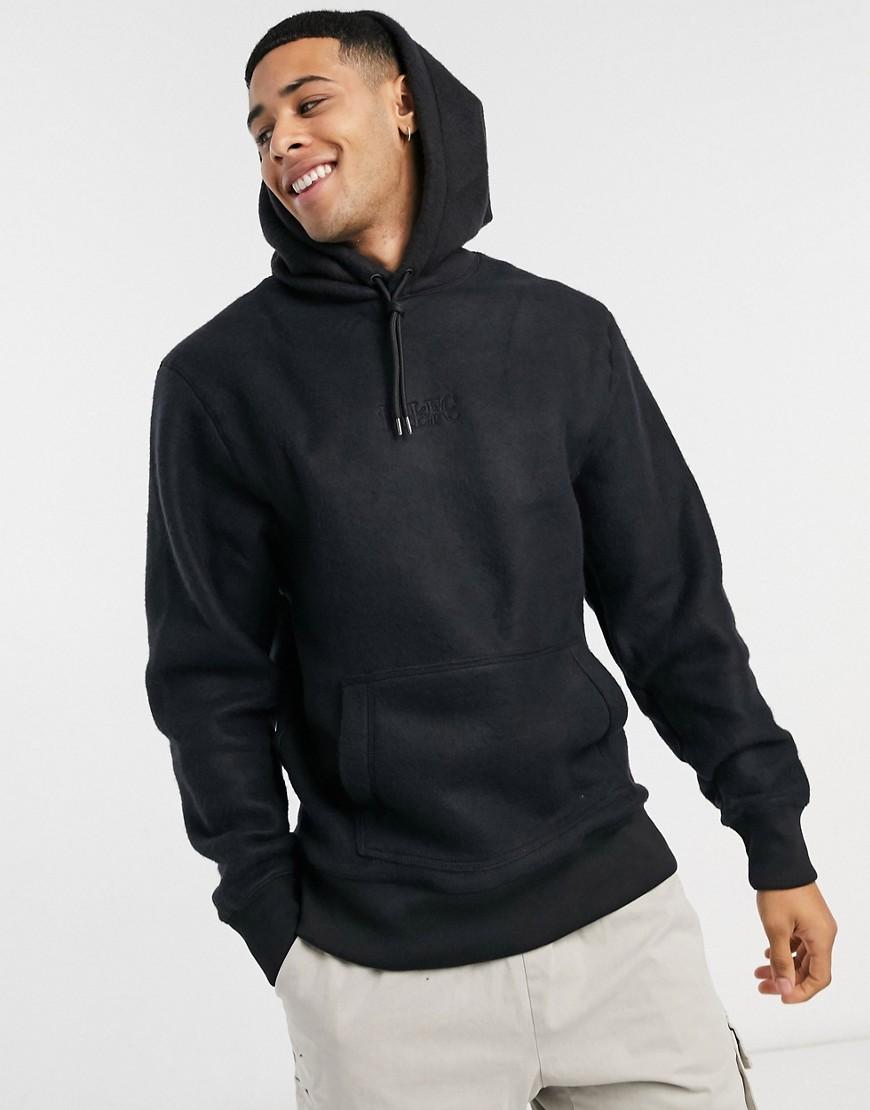 River Island fleece hoodie-Black