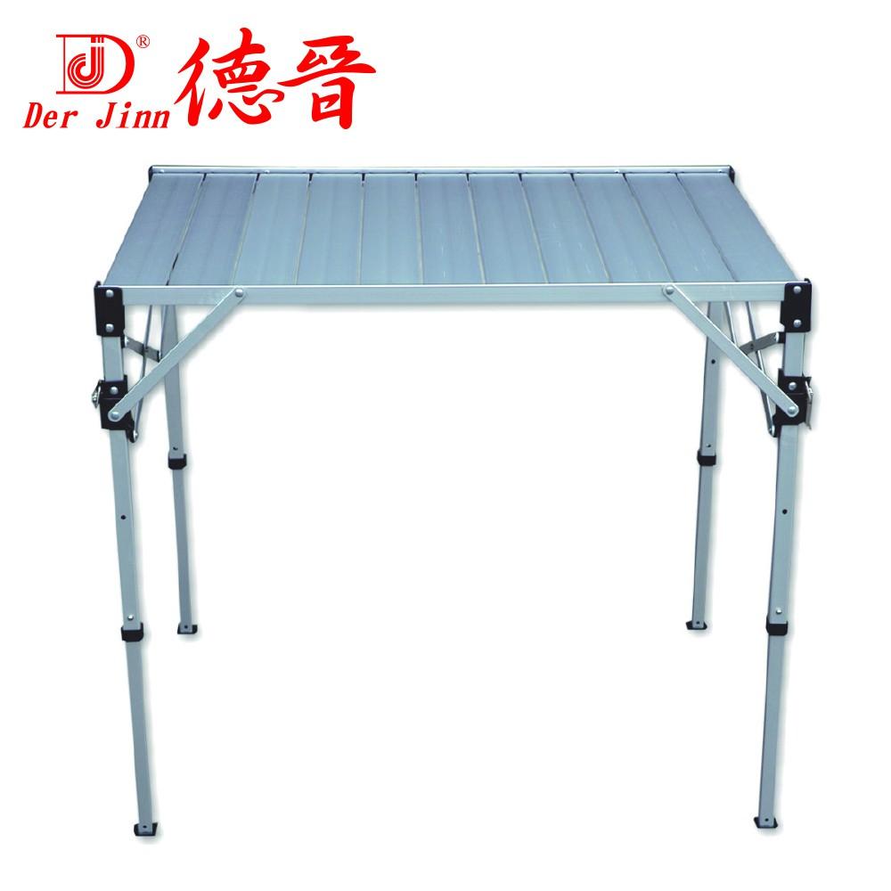【Der Jinn德晉】DJ- 7116台灣製-可調鋁合金折疊桌(中) 摺疊桌 休閒桌