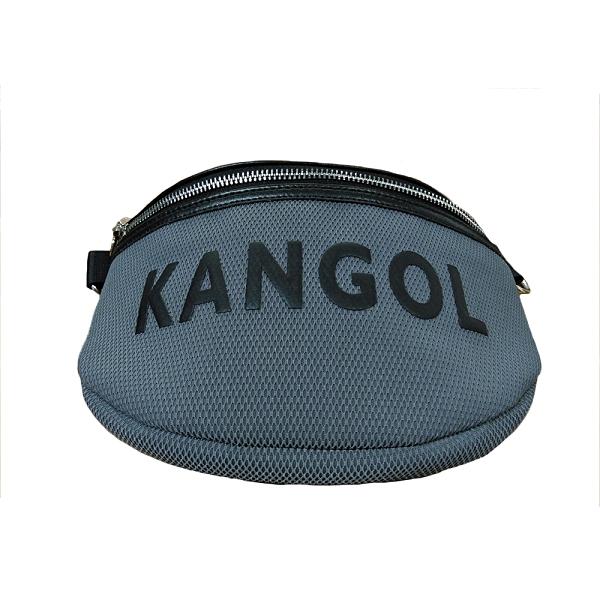 KANGOL 白色網狀側腰包-NO.6055300710