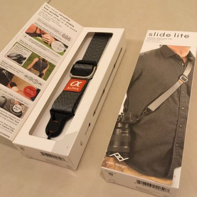 Sony Alpha x PEAK DESIGN 纖細版快裝神奇背帶 Slide Lite - 灰色