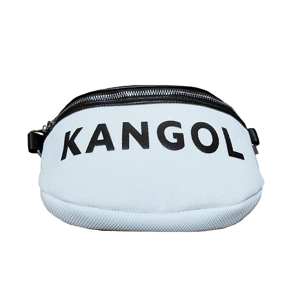 KANGOL 白色網狀側腰包-NO.6055300700