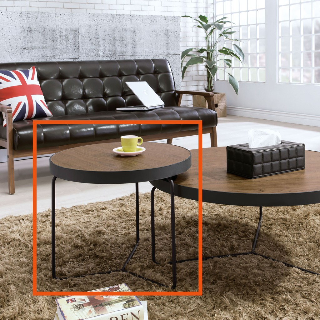 【52cm小茶几-B254-02】實木原木玻璃 大理石長方桌 大小邊几 圓桌 【金滿屋】