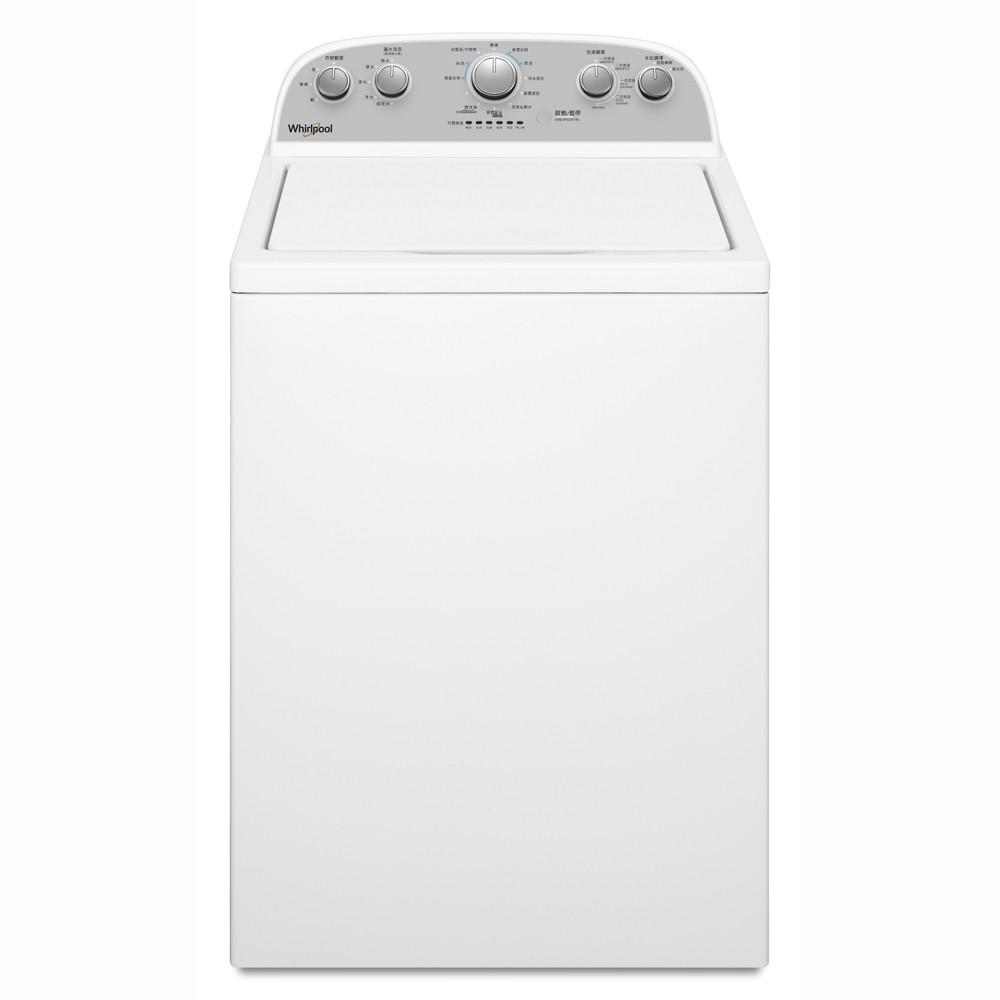 Whirlpool 惠而浦 12KG溫熱水波浪型長棒直立洗衣機 8TWTW4955JW【無加熱器】
