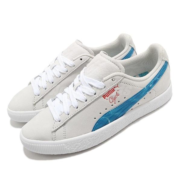 Puma 休閒鞋 Clyde Super Mario Sunshine 米白 藍 女鞋 男鞋 瑪利歐【ACS】 38019901