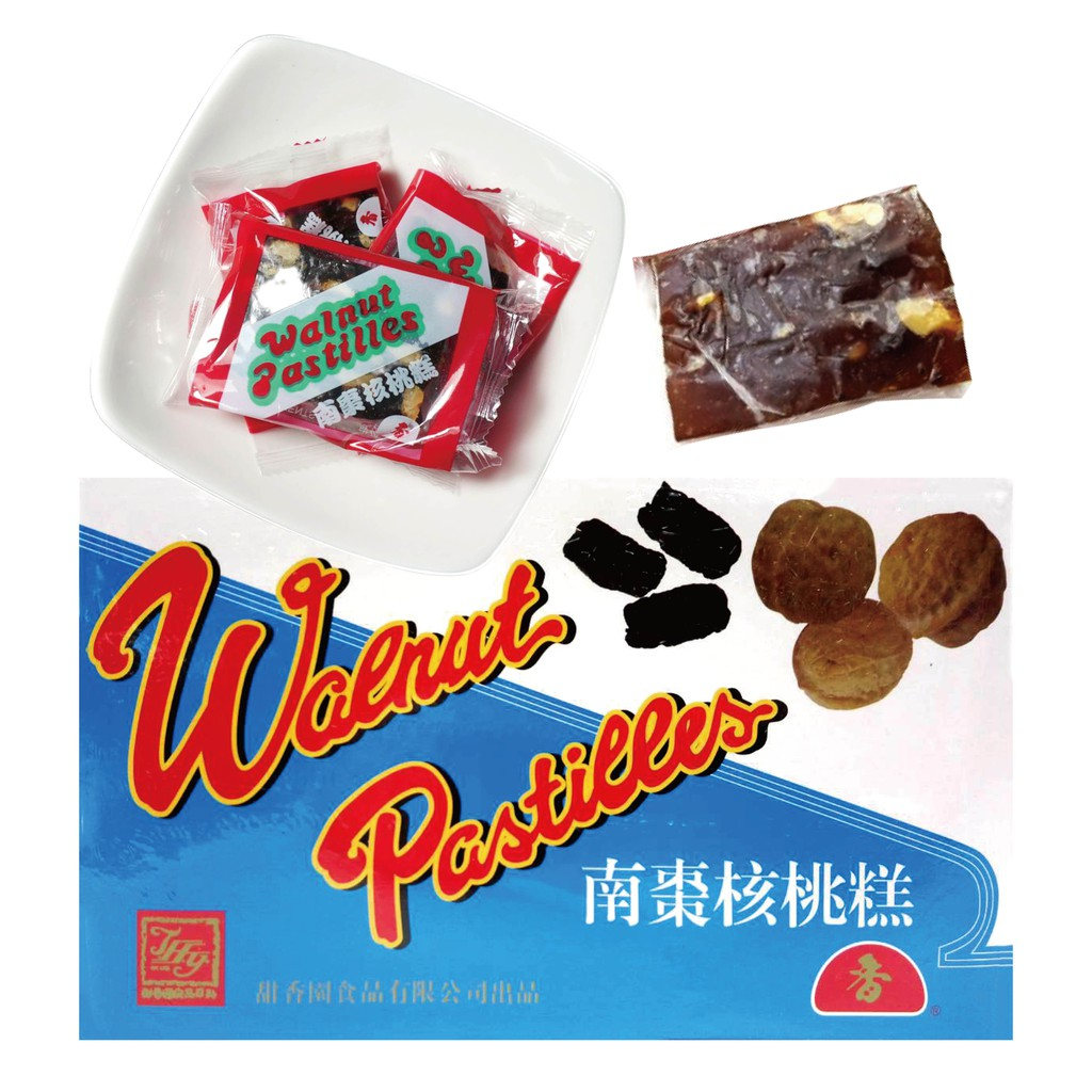 香港 甜香園 盒裝 南棗核桃糕 1070g 核桃 糕點